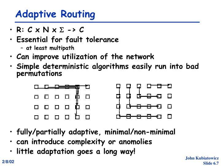 Adaptive Routing