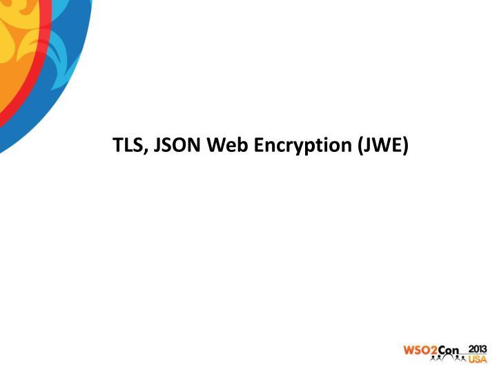 TLS, JSON Web Encryption (JWE)