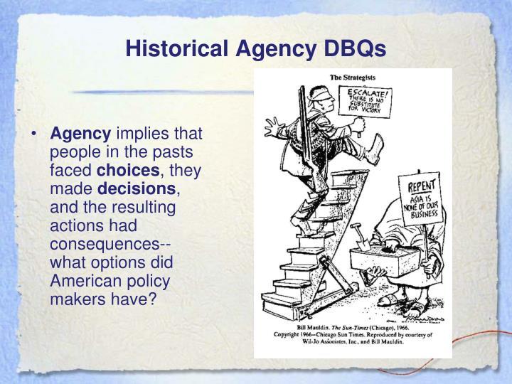 Historical Agency DBQs