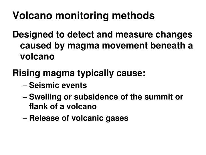 Volcano monitoring methods