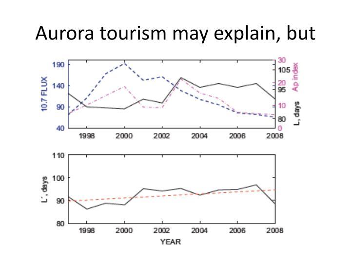 Aurora tourism may explain, but