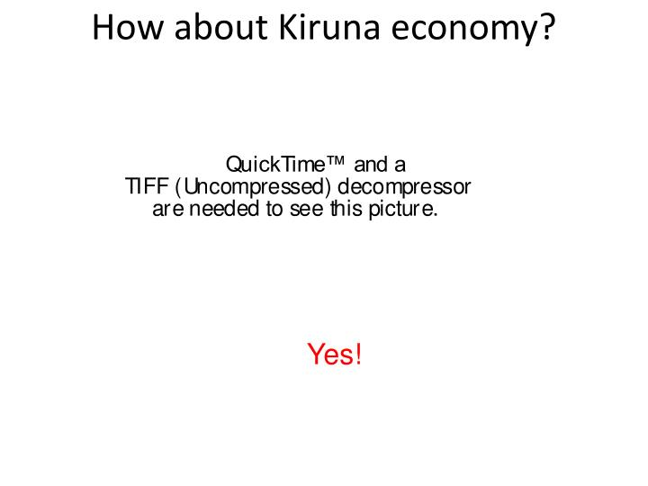 How about Kiruna economy?