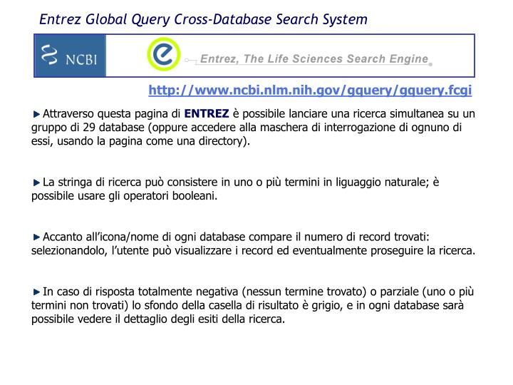 Entrez Global Query Cross-Database Search System