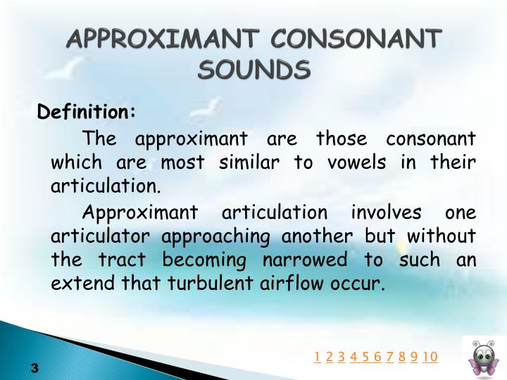 Approximant consonant sounds1