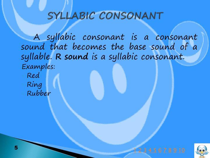 SYLLABIC CONSONANT