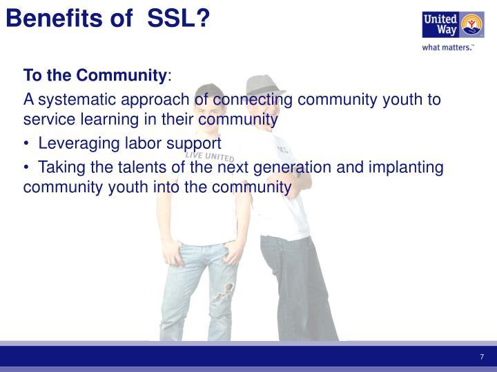 Benefits of  SSL?