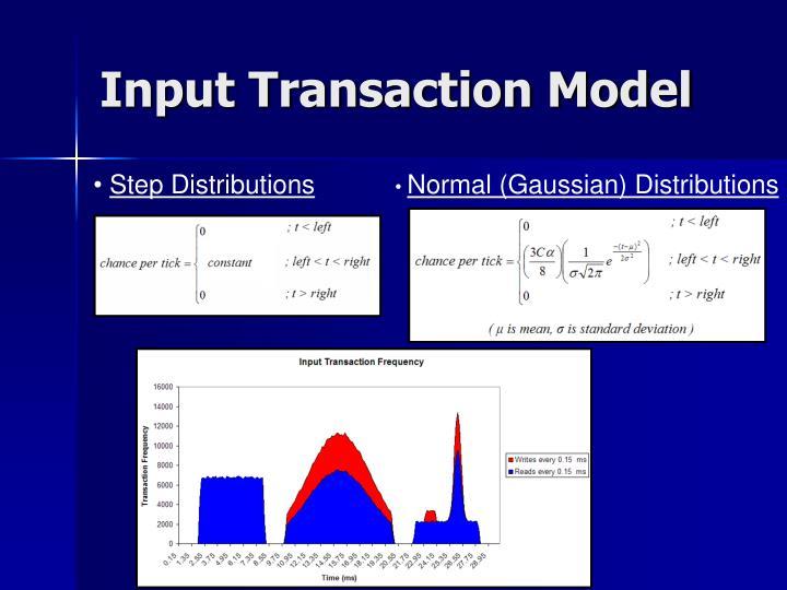 Input Transaction Model