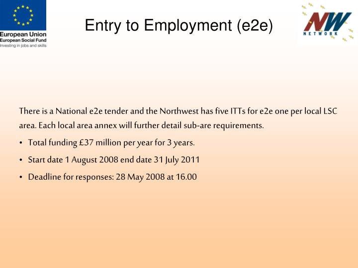 Entry to Employment (e2e)