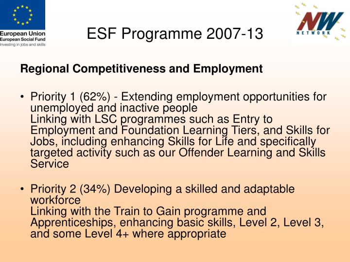 ESF Programme 2007-13