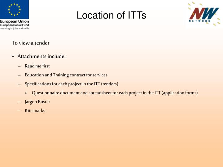 Location of ITTs