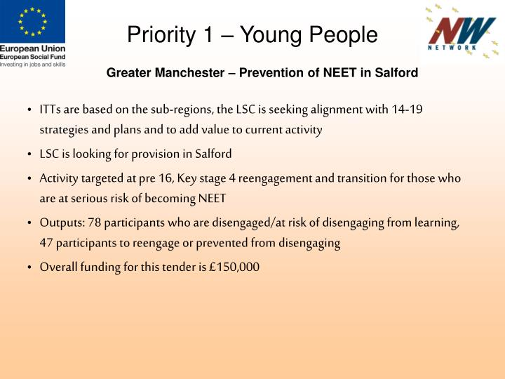 Priority 1 – Young People