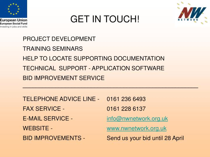 GET IN TOUCH!