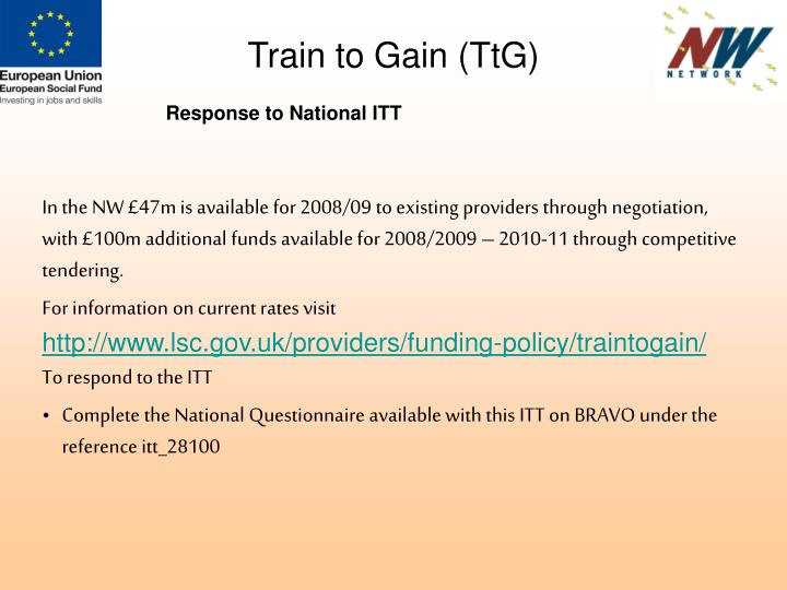 Train to Gain (TtG)