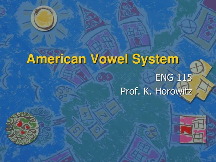 American vowel system