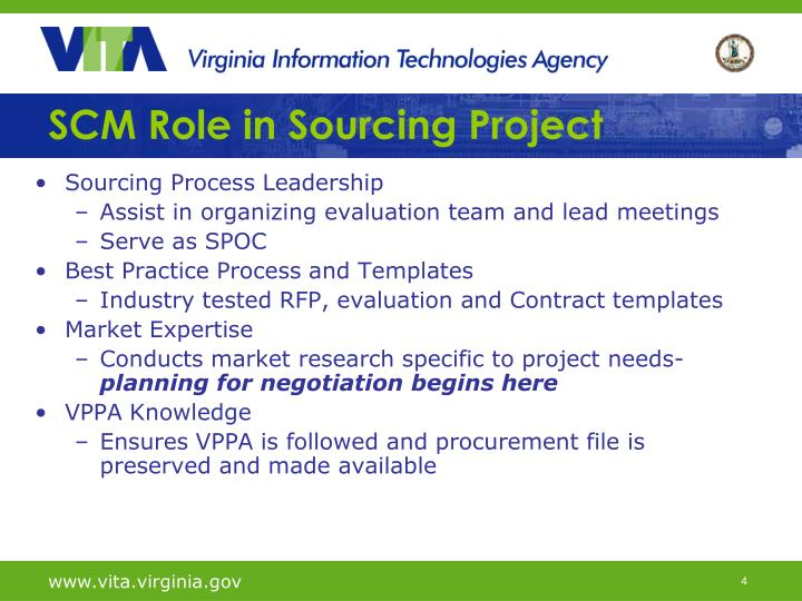 SCM Role in Sourcing Project