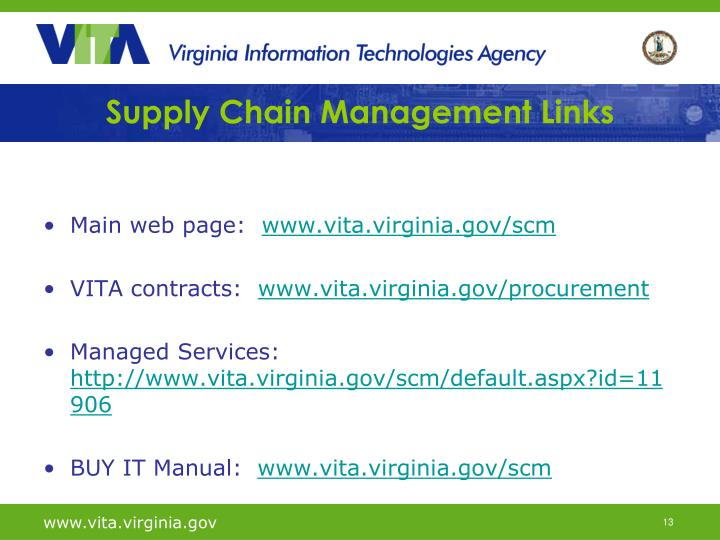 Supply Chain Management Links
