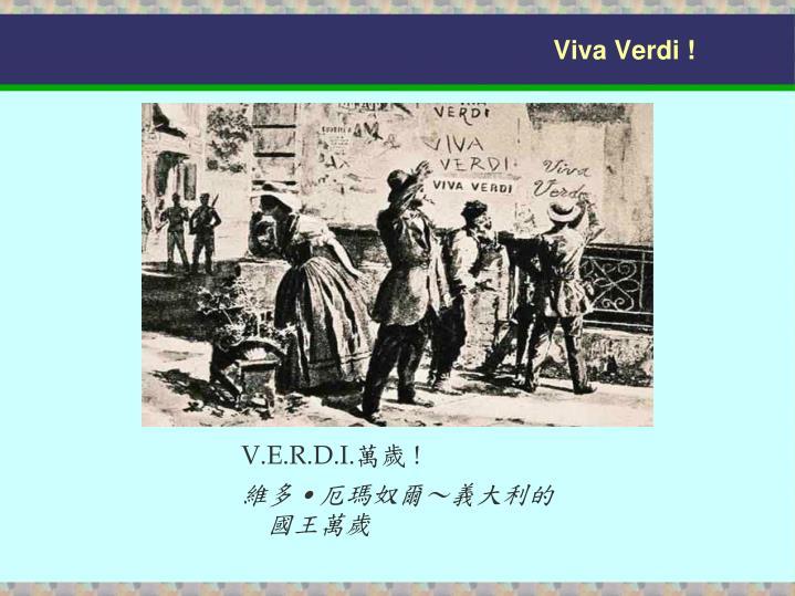 Viva Verdi !