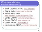 other associations full listing on www cavr org
