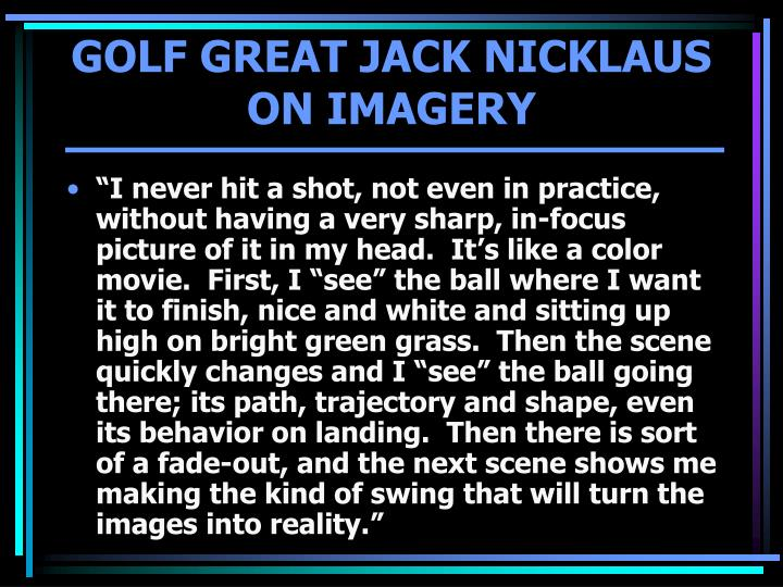 GOLF GREAT JACK NICKLAUS