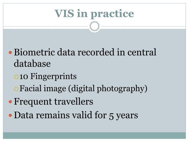 VIS in practice
