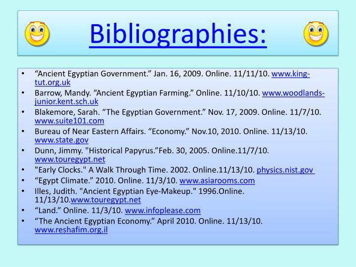 Bibliographies: