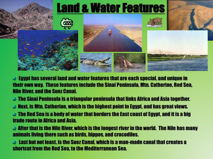 Land & Water Features