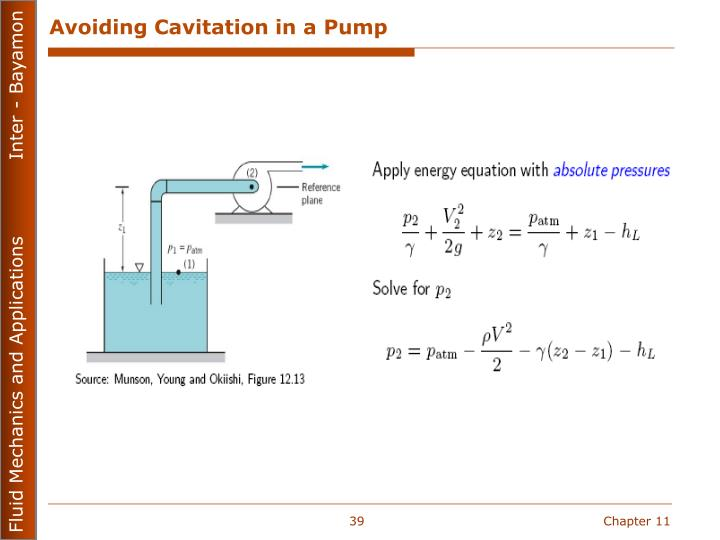 Avoiding Cavitation in a Pump