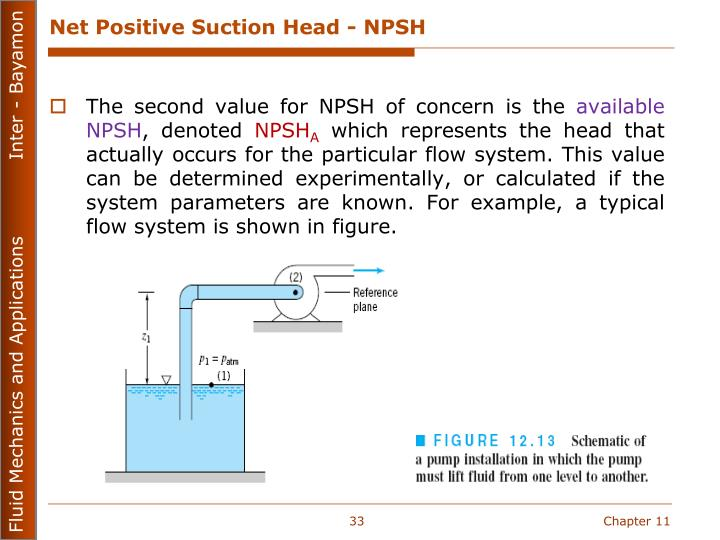 Net Positive Suction Head - NPSH