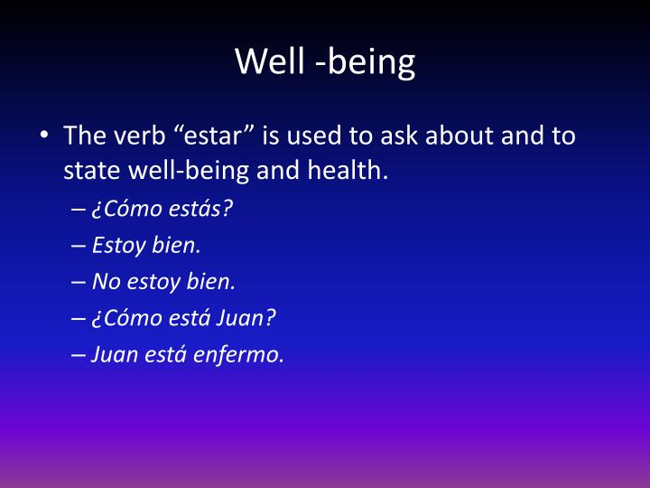 Well -being