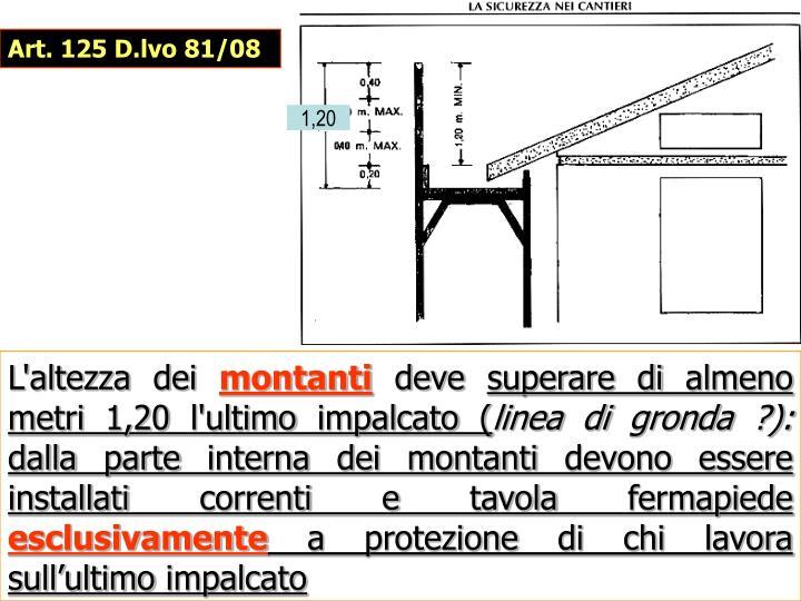 Art. 125 D.lvo 81/08