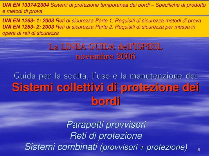 UNI EN 13374/2004