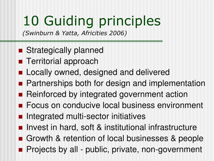 10 Guiding principles