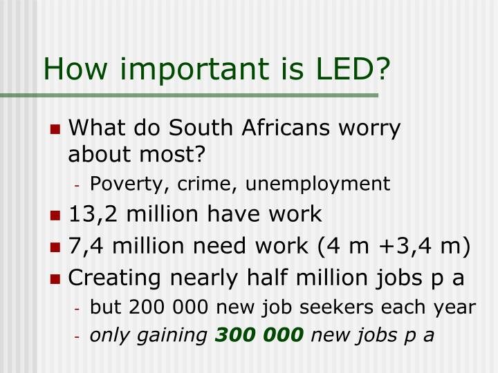 How important is LED?