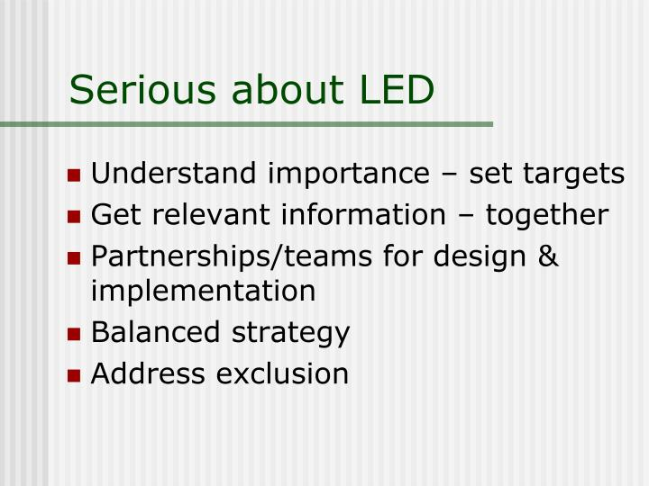 Serious about LED