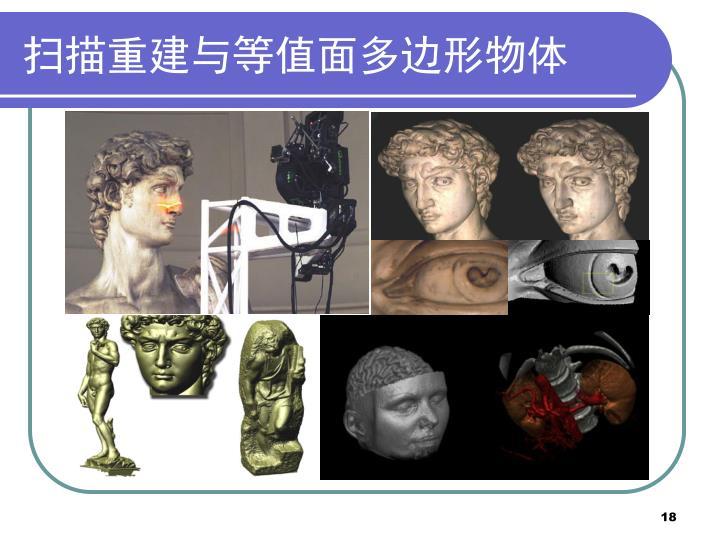 扫描重建与等值面多边形物体
