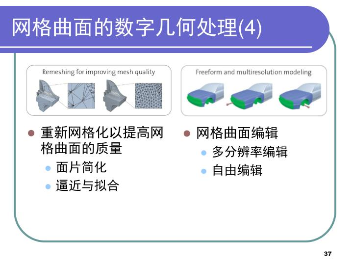 重新网格化以提高网格曲面的质量