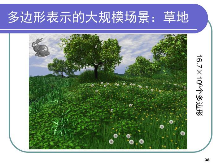 多边形表示的大规模场景:草地