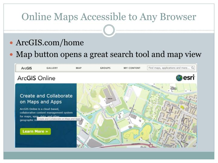 Online Maps Accessible to Any Browser