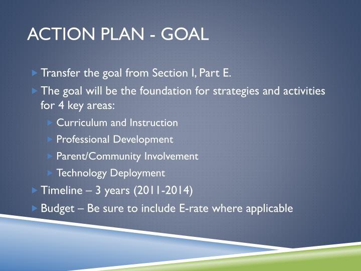 Action Plan - Goal
