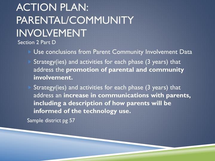 Action Plan: Parental/Community Involvement