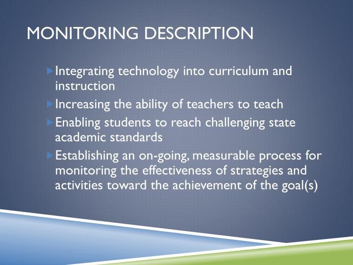 Monitoring description