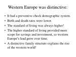 western europe was distinctive
