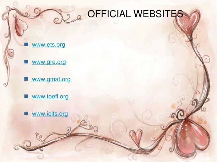 OFFICIAL WEBSITES