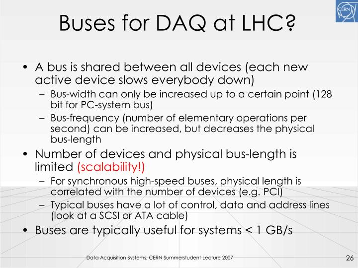 Buses for DAQ at LHC?