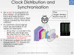 clock distribution and synchronisation