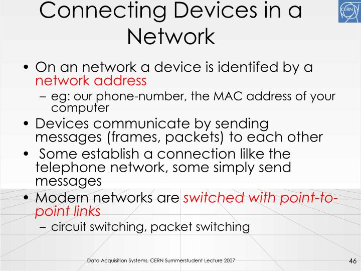 Connecting Devices in a Network