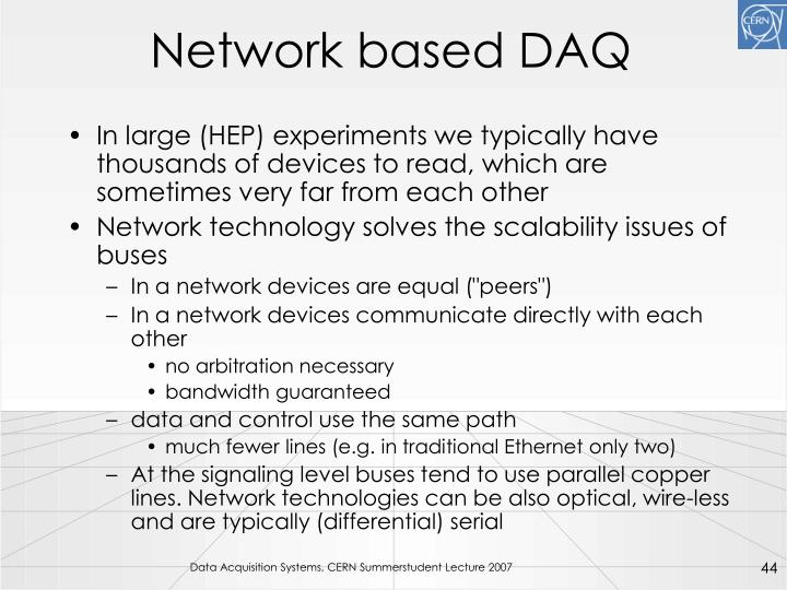 Network based DAQ
