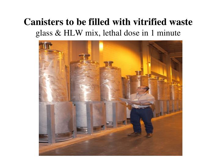 Canisters to be filled with vitrified waste