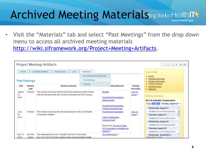 Archived Meeting Materials