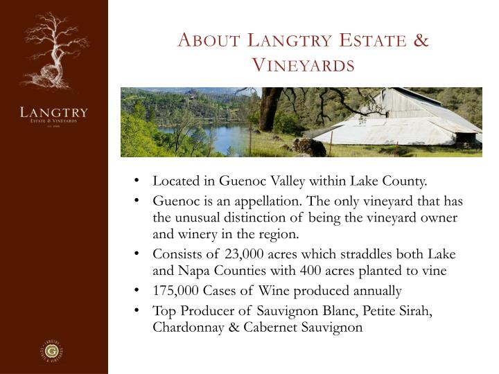 About Langtry Estate & Vineyards